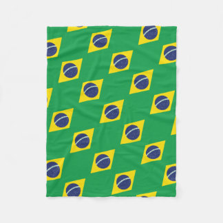 Brazilian Flag. Fleece Blanket