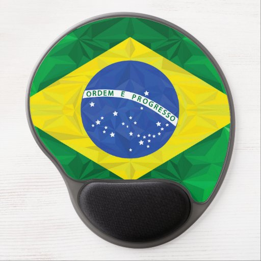 Brazilian flag gel mouse mats