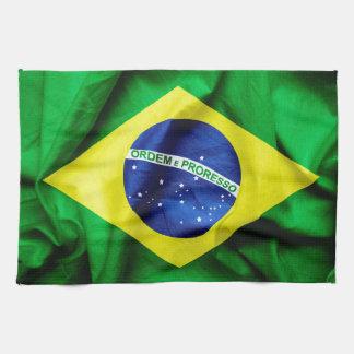 Brazilian Flag Hand Towels