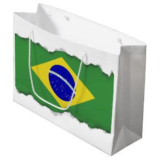 Brazilian Flag Large Gift Bag