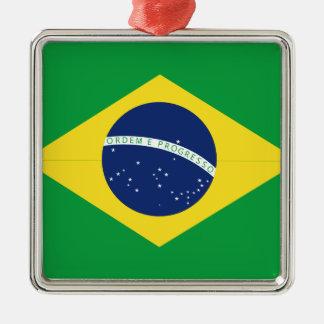 Brazilian flag metal ornament