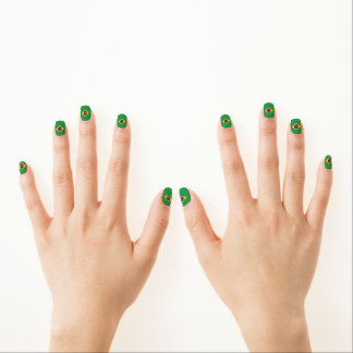 Brazilian flag minx nail art