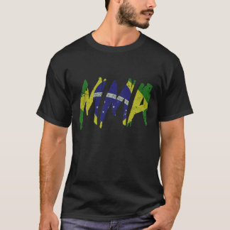 Brazilian Flag MMA Shirt