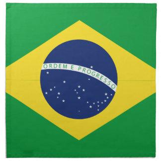 Brazilian flag napkin