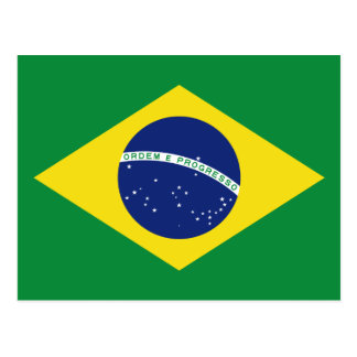 Brazilian flag of Brazil custom postcards