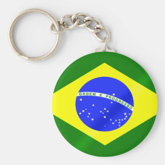 Brazilian flag of Brazil gifts and tees Keychain