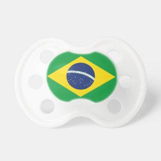 Brazilian flag pacifiers