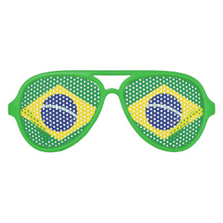 Brazilian flag party glasses | Brasil sunglasses