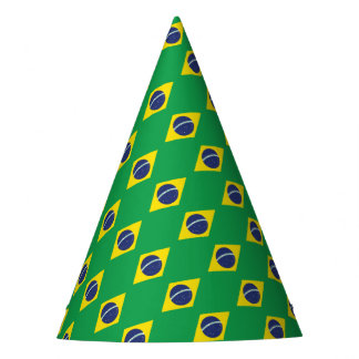 Brazilian Flag. Party Hat