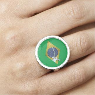 Brazilian flag photo ring
