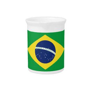 Brazilian flag pitcher