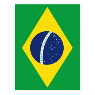 Brazilian flag postcard