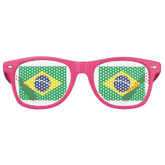 Brazilian Flag. Retro Sunglasses
