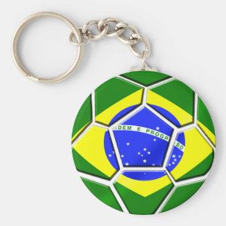 Brazilian flag Samba futebol soccer ball gifts Keychain