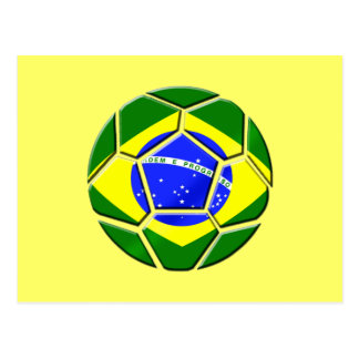 Brazilian flag Samba futebol soccer ball gifts Postcard