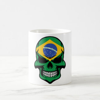 Brazilian Flag Skull Coffee Mug