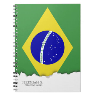 Brazilian Flag Spiral Note Book