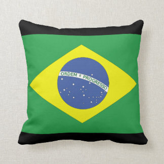 Brazilian Flag Throw Pillow