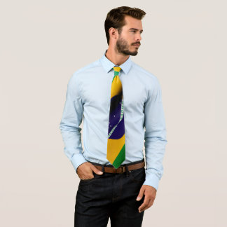 Brazilian flag tie