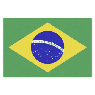 Brazilian Flag Tissue Paper