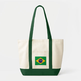 Brazilian flag tote bag