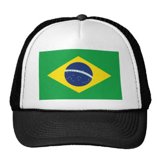 Brazilian flag trucker hat