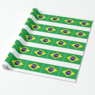 Brazilian flag wrapping paper