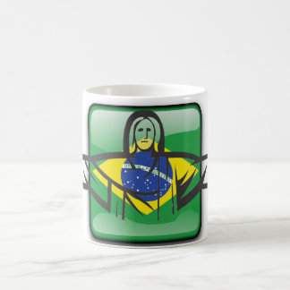 Brazilian glossy flag coffee mug