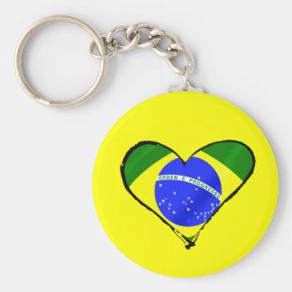 Brazilian heart Brazil flag love heart Keychain