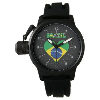 Brazilian heart flag watch