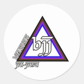 Brazilian Jiu Jitsu BJJ Triangle of Progress Round Sticker