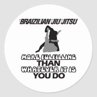 BRAZILIAN JIU JITSU CLASSIC ROUND STICKER