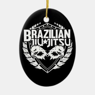 Brazilian Jiu Jitsu Emblem Ceramic Ornament