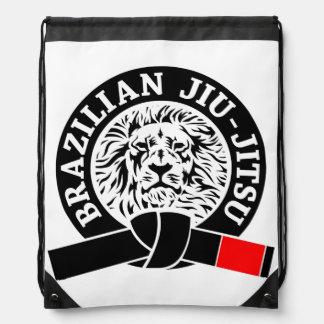 Brazilian Jiu-Jitsu (Gym Bag) Black Belt Drawstring Bag