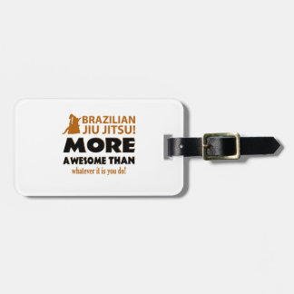 BRAZILIAN JIU JITSU LUGGAGE TAG