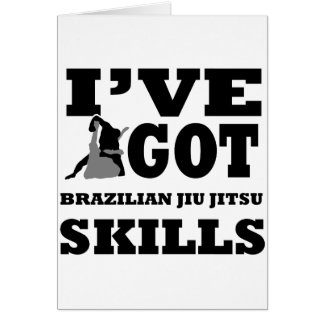 Brazilian Jiu Jitsu Martial Arts designs Card