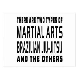 Brazilian Jiu-Jitsu Martial Arts Designs Postcard