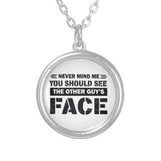 Brazilian Jiu-Jitsu martial arts designs Silver Plated Necklace