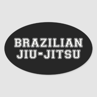 Brazilian Jiu Jitsu Oval Sticker
