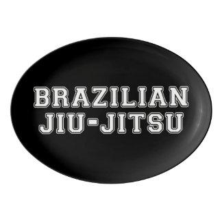 Brazilian Jiu Jitsu Porcelain Serving Platter