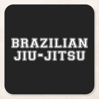 Brazilian Jiu Jitsu Square Paper Coaster