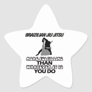 BRAZILIAN JIU JITSU STAR STICKER