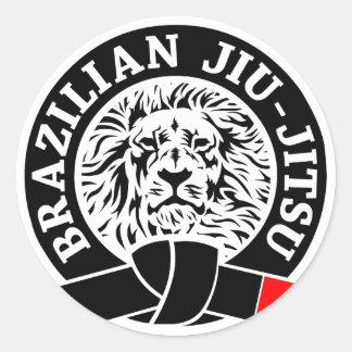 Brazilian Jiu-Jitsu Sticker (Round)