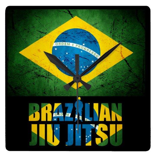 Brazilian Jiu Jitsu - Weathered Flag Wall Clock