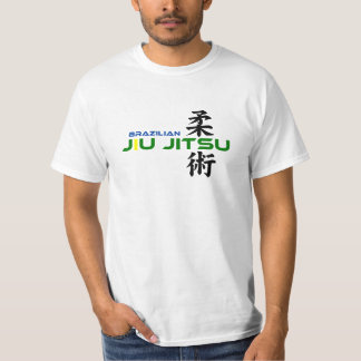 Brazilian Jiu Jitsu with Japanese Characters T-Shirt