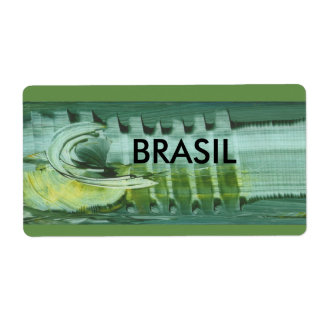 Brazilian label modern art in 3D ADHESIVE