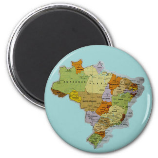Brazilian Map Fridge Magnet