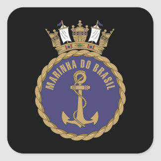 """Brazilian Navy"" Square Sticker"