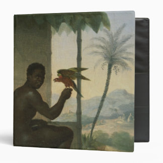 Brazilian negro with Tropical Bird 3 Ring Binder