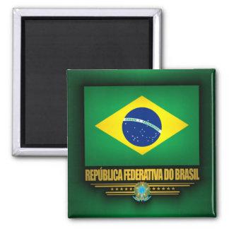 Brazilian Pride Square Magnet